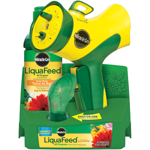 Miracle-Gro LiquaFeed Advance All Purpose Plant Feeding Starter Kit with Miracle-Gro LiquaFeed All Purpose Plant Food, 16 oz