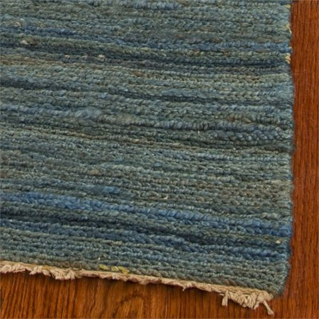 Safavieh Organica 6' Square Hand Knotted Jute Rug in Blue - image 2 of 3
