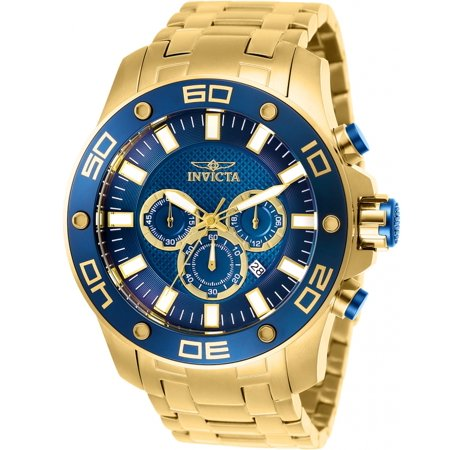 26078 Pro Diver Chronograph Blue Dial Men's Gold Stainless Steel