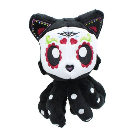 Dia De Los Muertos Sugar Skull Tentacle Kitty 4 Inch Little Ones Plush - Skull Staff