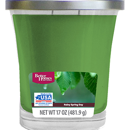 Click here to buy Better Homes and Gardens Rainy Spring Day Candle, 17 oz by Wal-Mart Stores, Inc..