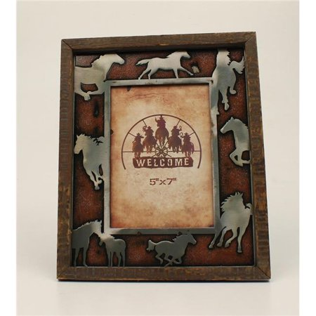 M&F Western 94965 Running Horses Picture Frame - 5 x 7 in. ()