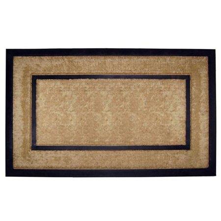 nedia home coir/ rubber frame doormat - walmart