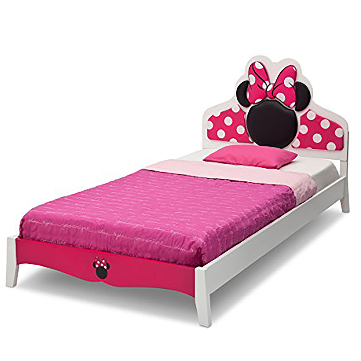 Delta Children Disney Minnie Mouse Wood Twin Toddler Girl Furniture Bed Frame