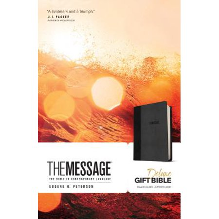 The Message Deluxe Gift Bible (Leather-Look, Black/Slate) : The Bible in Contemporary Language](Minions In The Bible)