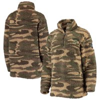Syracuse Orange Women's OHT Military Appreciation Sherpa Quarter-Zip Pullover Jacket - Camo