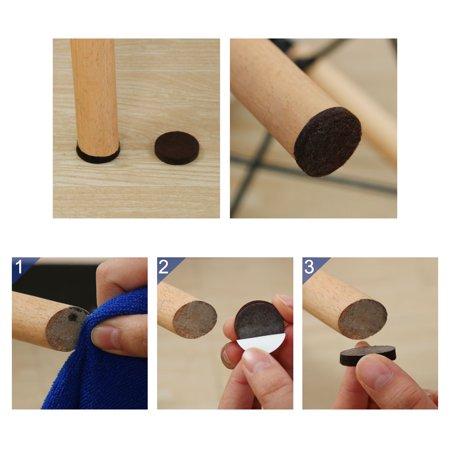 "Felt Furniture Feet Pads Round 3/4"" Dia Self Adhesive Floor Protector 8pcs - image 2 of 7"