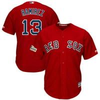 Men's Majestic Hanley Ramirez Scarlet Boston Red Sox 2017 Postseason Cool Base Player Jersey