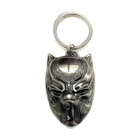 Novelty Character Accessories Monogram Marvel Comics Captain America Civil War Black Panther Head Pewter Key Chain (Multipack of 3)