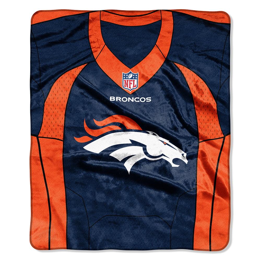 Denver Broncos NFL Royal Plush Raschel Blanket (Jersey Raschel) (50in x 60in)