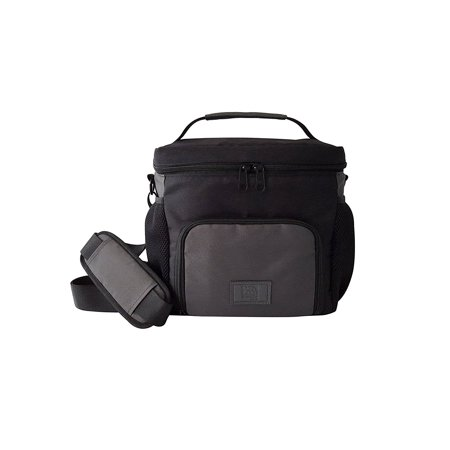 Large Heavy Duty Insulated Lunch Bag Cooler For Men And Women Black Gray