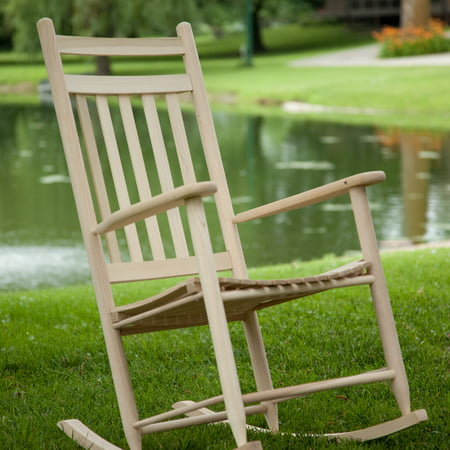 Dixie Seating Indoor/Outdoor Slat Rocking Chair - Unfinished - Walmart ...