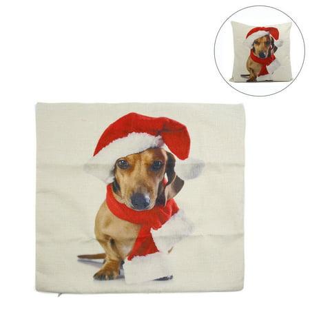 Linen Christmas Dog Face Printed Sofa Car Throw Pillow Cover Case 45mm x  45mm - Walmart.com e3e70bcfe0f7