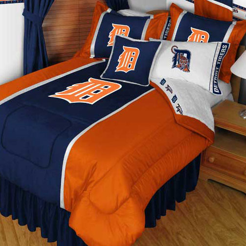 MLB Detroit Tigers Bedding Set Baseball Bed Queen