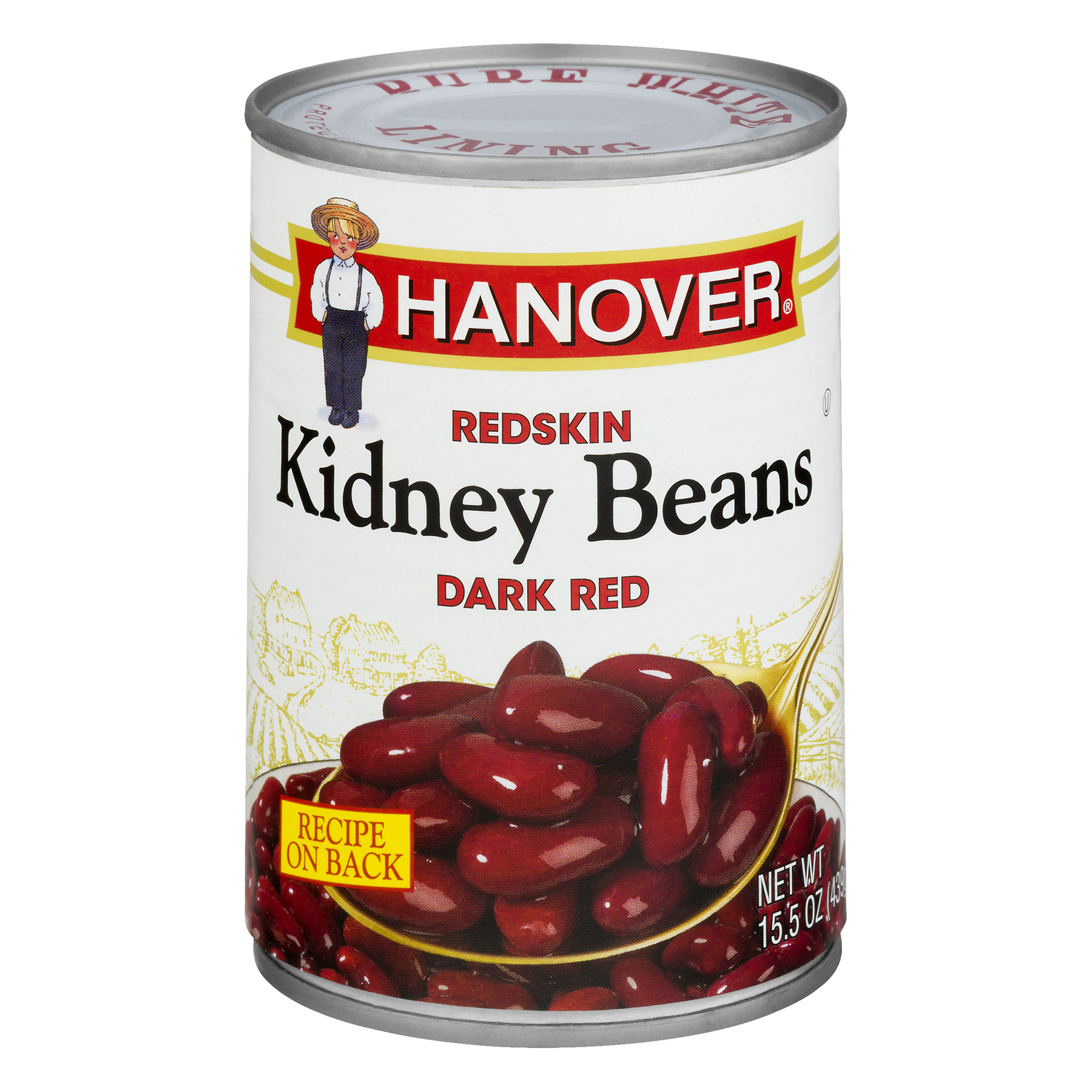 Hanover Redskin Kidney Beans Dark Red, 15.5 OZ