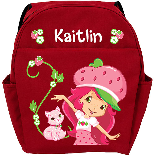 Personalized Strawberry Shortcake and Custard Super Sweet Red Youth Backpack