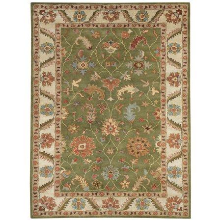 Dynamic Rugs Charisma 1411 Labyrinth Persian Rug - Green/Ivory
