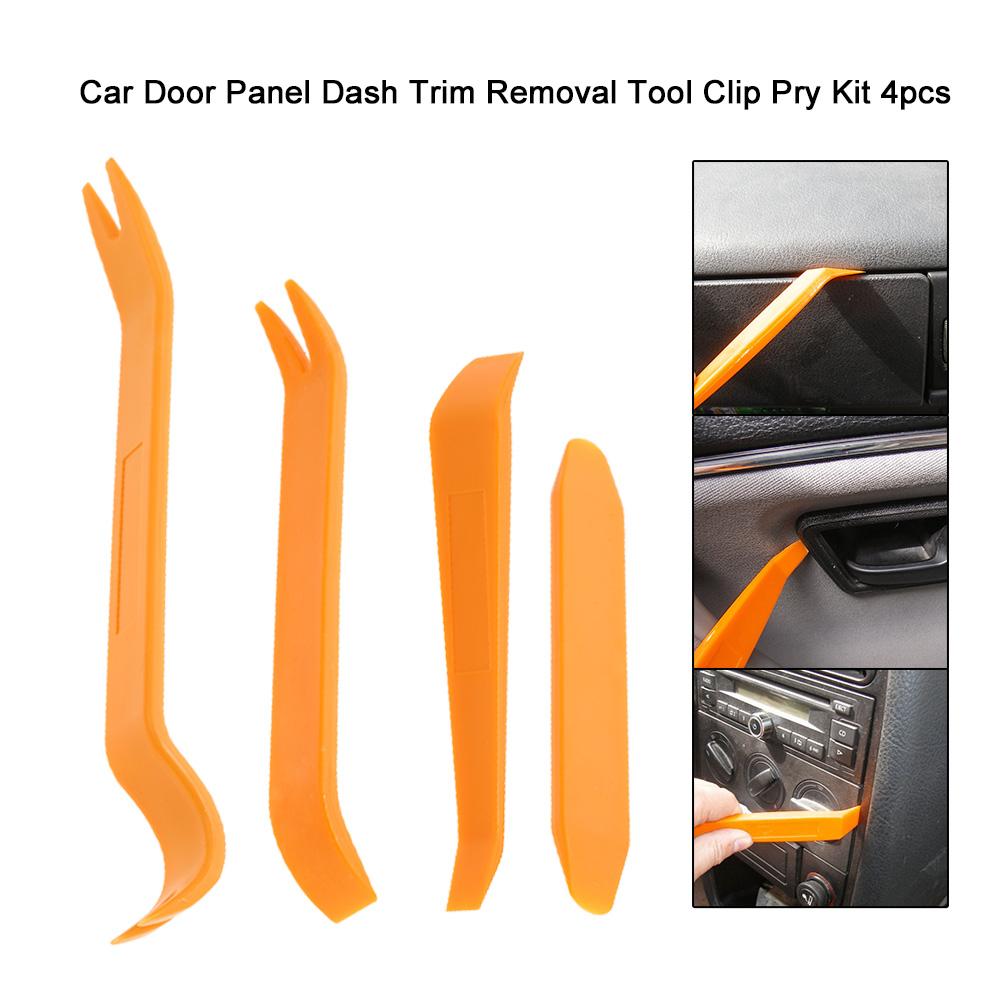 4pcs Car Door Trim Removal Tool Panel Dash Radio Body Clip Installer Pry Kit