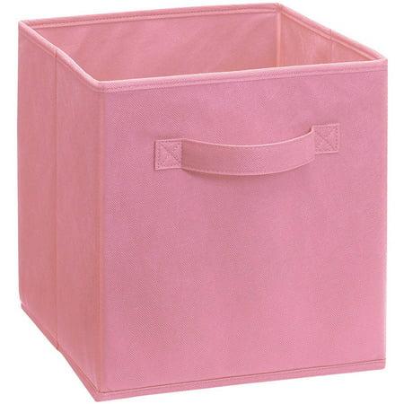 Pink 3 Fabric Storage (ClosetMaid Decorative Fabric Drawer, Pink)