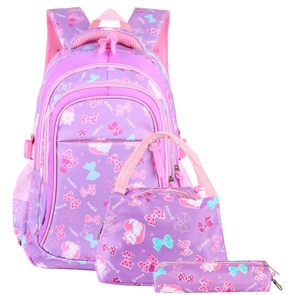 Cute Barbie Backpack Pink Princess School Bag Kid Girl Kindergarten Bookbag Gift