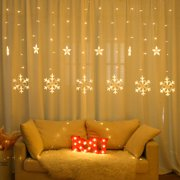 Lovehome 220V Snowflake Curtain Light LED String Ins Christmas Lights Decoration