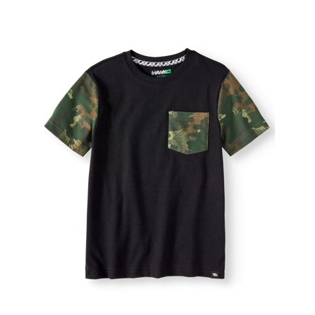 Tony Hawk Short Sleeve Camo Print Pocket Tee Shirt (Big Boys)