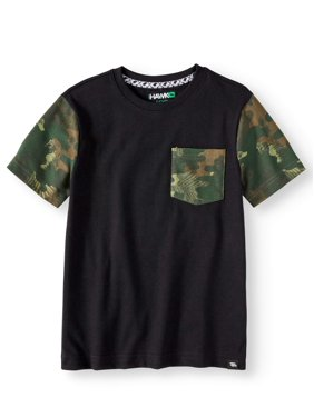 a4379978f883 Product Image Short Sleeve Camo Print Pocket Tee Shirt (Big Boys)