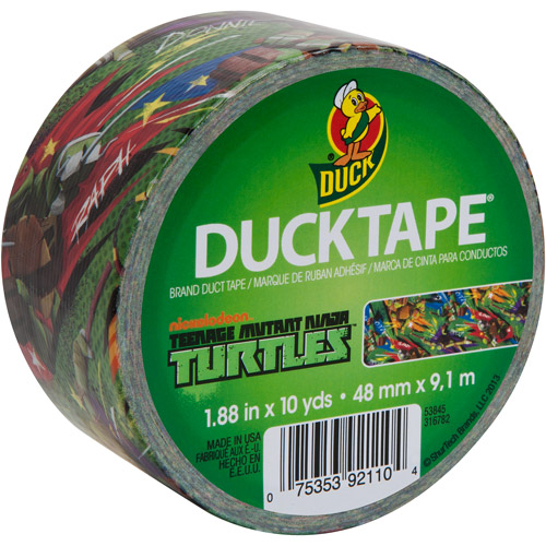 "Duck Brand Duct Tape, 1.88"" x 10 yard, Teenage Mutant Ninja Turtles"