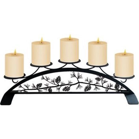 Village Wrought Iron C-PLB-89 Pinecone - Table Top Pillar Candle Holder ()