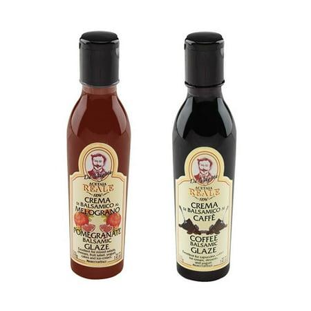"Acetaia Reale Pomegranate Dark Balsamic Glaze - 7.4 fl oz (250mL) Italian ""Cream"" of Balsamic Vinegar with Pomegranate"