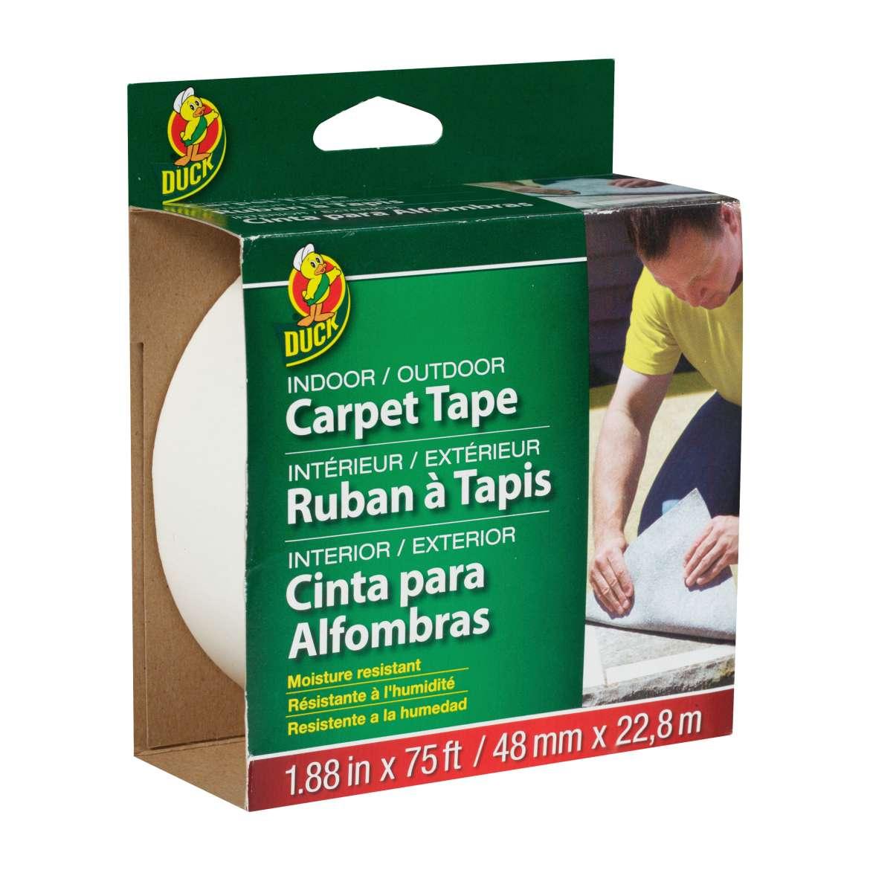 Duck Brand Indoor/Outdoor Carpet Tape - White, 1.88 in. x 75 ft.
