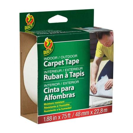 Duck Brand Indoor/Outdoor Carpet Tape - White, 1.88 in. x 75 -