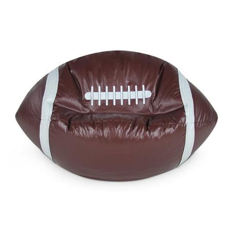 Football Junior Sports Vinyl Pure Bead Bean Bag