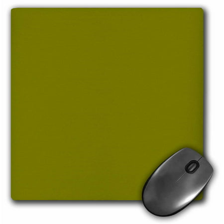 3Drose Olive Green   Army Green   Simple Plain One Single Solid Color  Mouse Pad  8 By 8 Inches