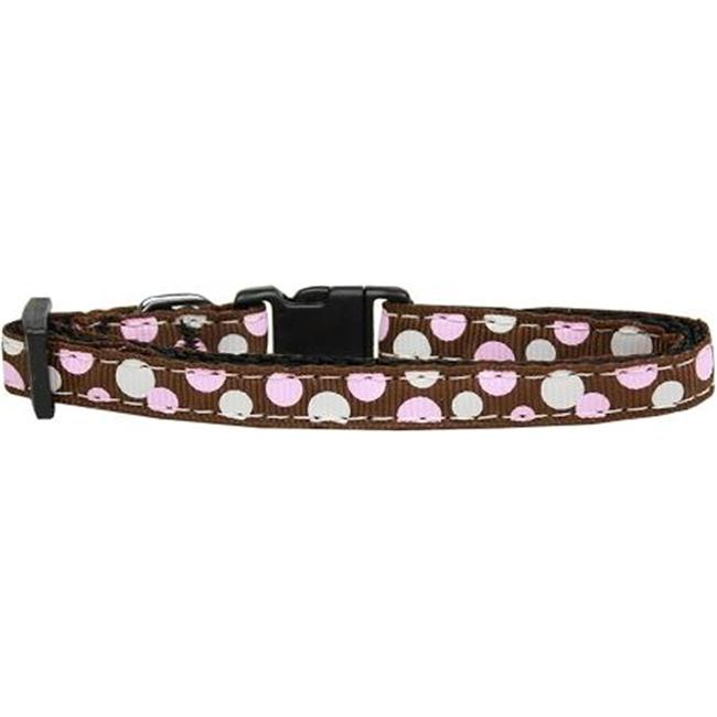 Confetti Dots Nylon Collar Brown Cat Safety