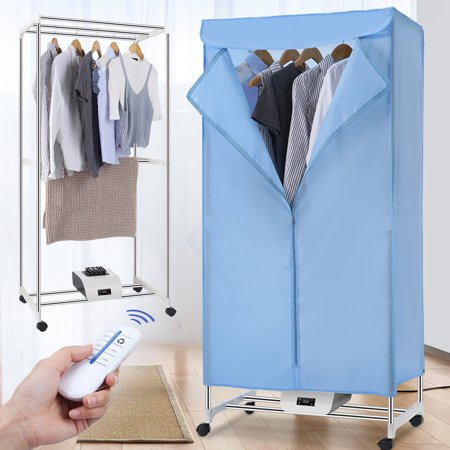 Electric Portable Clothes Dryer - Laundry Drying Rack with High Powered 1000W Heater and Germ Killing UV Light Sanitation - Compact with 22Lb Capacity