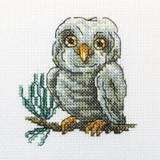 "Owlet Counted Cross Stitch Kit, 4"" x 4"", 14 Count"