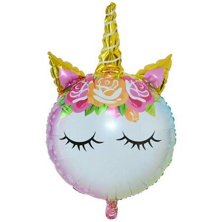 TURNTABLE LAB Magical Rainbow Unicorn Super Shape Bouquet Balloon Party Supplies Decoration