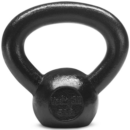 (Yes4All 5 lbs Kettlebell Cast Iron - Kettlebell Weights (Single))