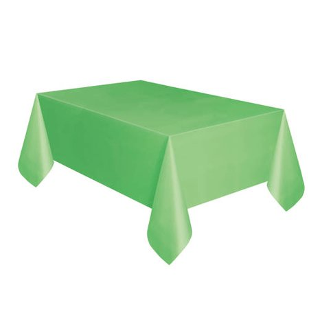 (3 Pack) Lime Green Plastic Tablecloth, 108 x 54 in, 2ct