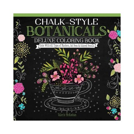ISBN 9781497201514 product image for Chalk-style Botanicals Coloring Book: Color With All Types of Markers, Gel Pens  | upcitemdb.com