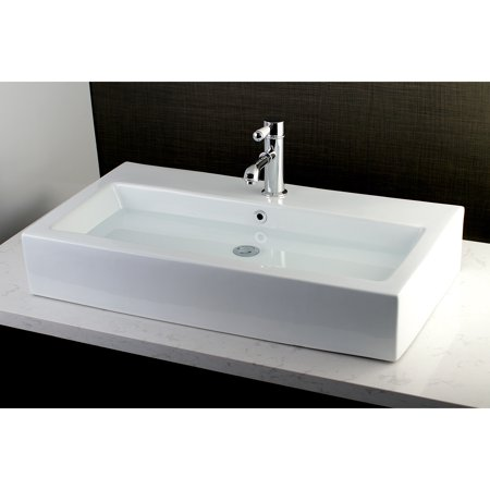 Kingston Br Contemporary Large 32 Inch Elongated Vessel Bathroom Sink