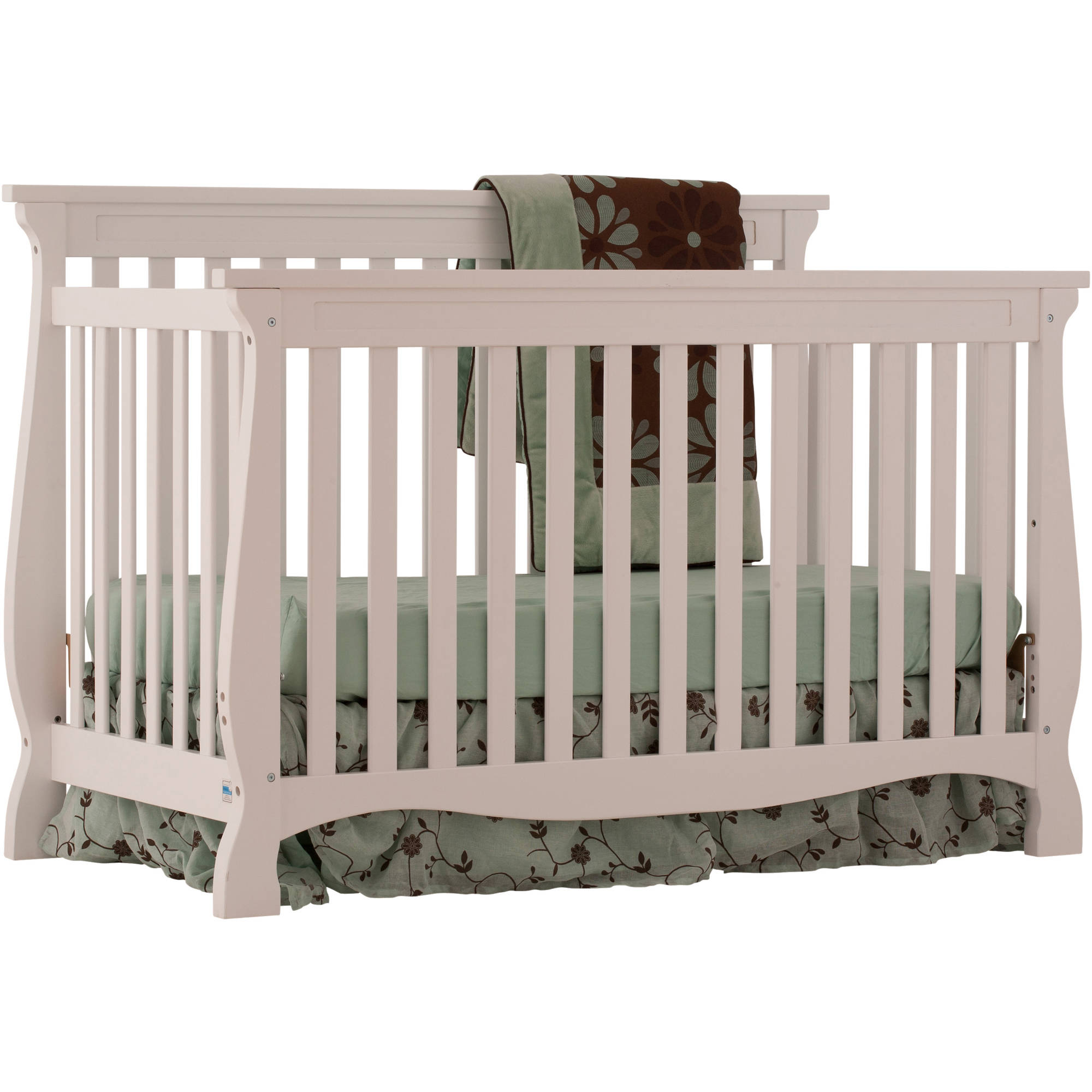 Storkcraft - Carrara Fixed-Side Convertible Crib, Choose Your Finish