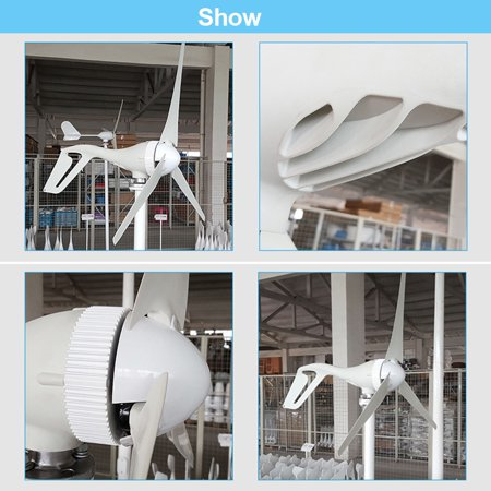 Feature:-Automatically adjust wind direction-High wind energy conversion rate-Strong wind resistance ability-High cost-performance-Low vibration and low noiseSpecification:Model:NE-200S3Rated - image 2 of 10