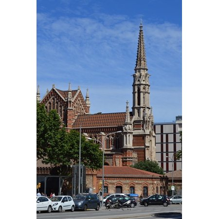Barcelona Couch (LAMINATED POSTER Church Of St Francis De Sales Church Spain Barcelona Poster Print 24 x 36)