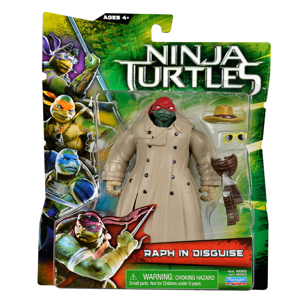 Teenage Mutant Ninja Turtles 2014 Movie Raphael Action Figure [Raph in Disguise]