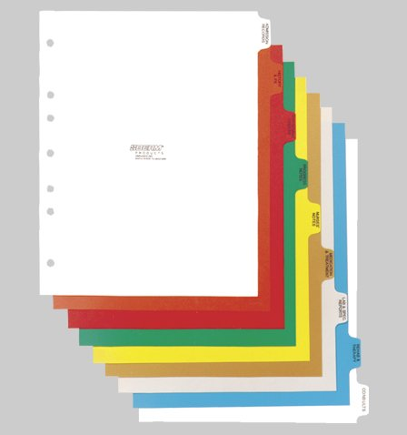 Omnimed  16 Tab Preprinted Poly Chart Dividers with Side Open