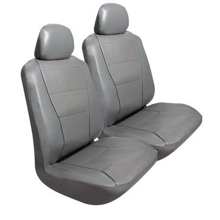 Car Seats Cover Gray Synthetic Universal Decorative Truck Seat Covers Set