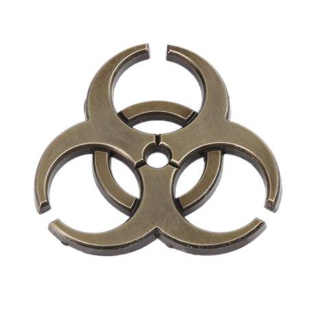 Universal Bronze Tone Self Adhesive Car Body Metal Decorative Emblem Badge Decal Sticker