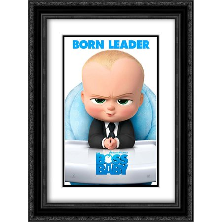 The Boss Baby 18X24 Double Matted Black Ornate Framed Movie Poster Art Print